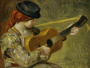 Girl with a Guitar, 1897 by Pierre-Auguste Renoir