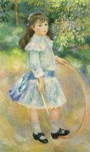 Girl with a Hoop, 1885 by Pierre-Auguste Renoir