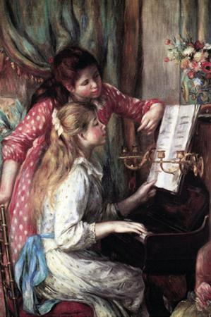 Girls at the Piano by Pierre-Auguste Renoir