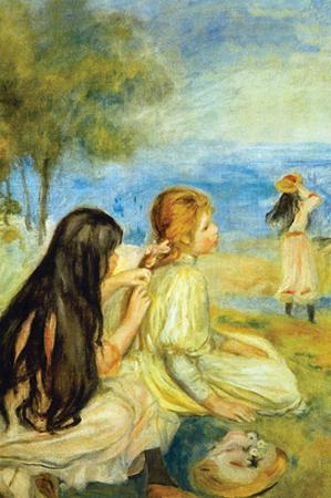 Girls by the Seaside by Pierre-Auguste Renoir