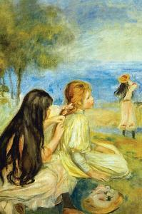 Girls by the Seaside by Pierre-Auguste Renoir