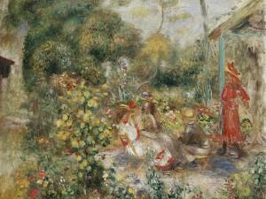 Girls in a Garden in Montmartre; Fillettes Dans Un Jardin a Montmartre, C.1893-5 by Pierre-Auguste Renoir