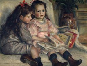 Girls Reading, Ca. 1880 by Pierre-Auguste Renoir
