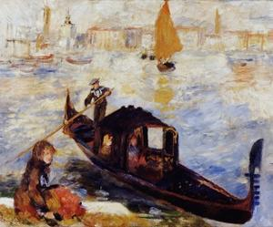 Gondola on the Grand Canal in Venice by Pierre-Auguste Renoir