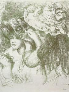 Hat Pin, First Board; Le Chapeau Epingle, Premiere Planche, C.1897 by Pierre-Auguste Renoir