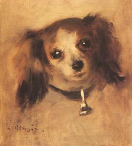Head of a Dog, 1870 by Pierre-Auguste Renoir