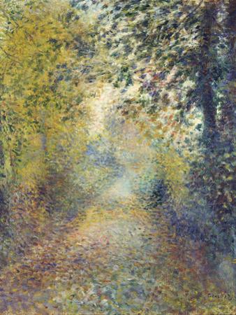 In the Woods, C. 1880 by Pierre-Auguste Renoir