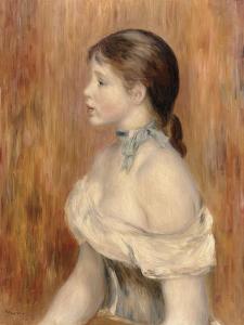 Jeune fille au ruban bleu by Pierre-Auguste Renoir