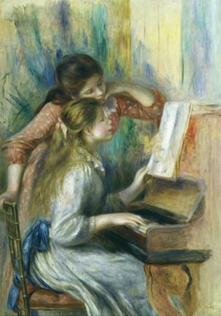 Jeunes Filles Au Piano, Young Girls at the Piano, C. 1892 by Pierre-Auguste Renoir
