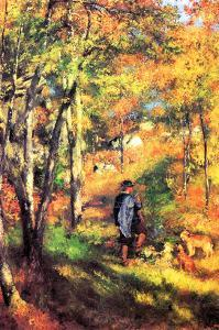 Jules Le Coeur and His Dogs by Pierre-Auguste Renoir