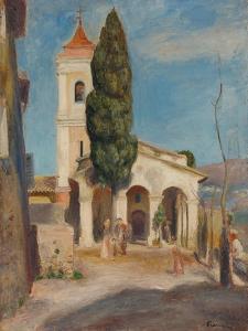 La Chapelle Notre-Dame de Protection au Haut-de-Cagnes, 1905 by Pierre Auguste Renoir