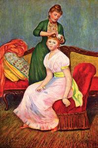 La Coiffure by Pierre-Auguste Renoir