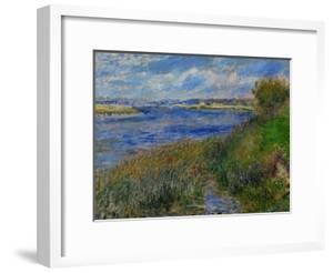 La Seine a Champrosay, Banks of the Seine River at Champrosay, 1876 by Pierre-Auguste Renoir