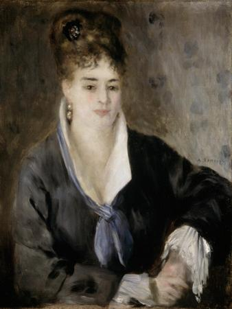 Lady in Black, 1876 by Pierre-Auguste Renoir