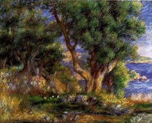 Landscape on the Coast Near Menton by Pierre-Auguste Renoir
