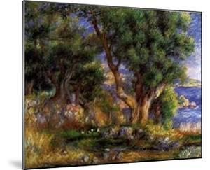 Landscape on the Coast Near Menton by Pierre-Auguste Renoir