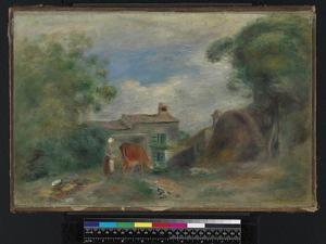 Landscape with figures, before 1919 by Pierre Auguste Renoir