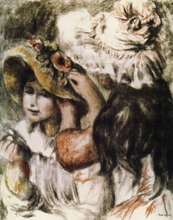 Le Chapeau Épinglé (Pinning the Ha), 1898 by Pierre-Auguste Renoir