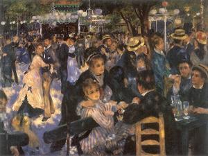 Le Moulin De La Galette, 1876 by Pierre-Auguste Renoir