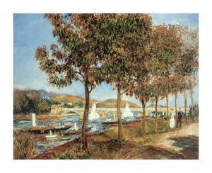 Le Pont d'Argenteuil en Automne by Pierre-Auguste Renoir