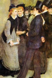 Leaving the Conservatoire by Pierre-Auguste Renoir