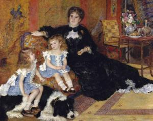 Madame Georges Charpentier and Her Children, Georgette-Berthe and Paul-Émile-Charles by Pierre-Auguste Renoir