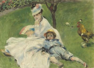 Madame Monet and Her Son, 1874 by Pierre-Auguste Renoir