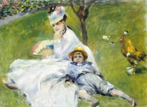 Madame Monet and Her Son by Pierre-Auguste Renoir