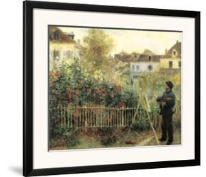 Monet Painting in His Garden at Argenteuil by Pierre-Auguste Renoir