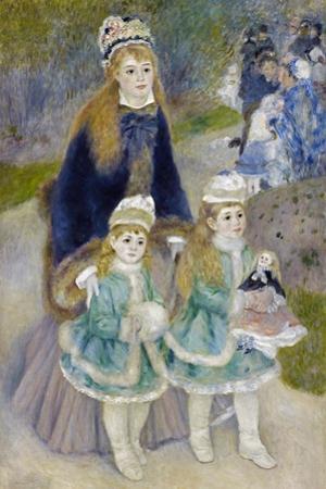 Mother and Children (La Promenad), 1874-1876 by Pierre-Auguste Renoir