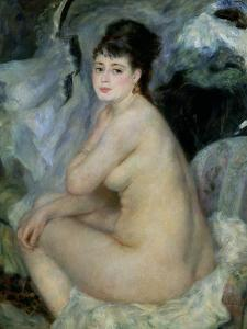 Nude, or Nude Seated on a Sofa, 1876 by Pierre-Auguste Renoir