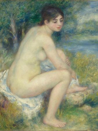 Nude Woman in a Landscape, 1883 by Pierre-Auguste Renoir