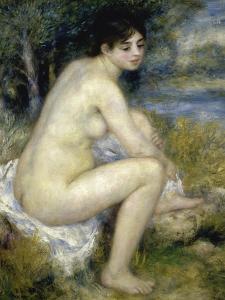 Nude Woman Seated in a Landscape by Pierre-Auguste Renoir