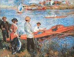 Oarsmen at Chateau, 1879 by Pierre-Auguste Renoir