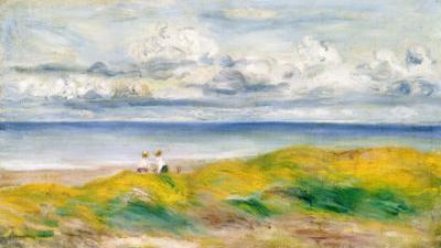 On the Cliffs, 1880 by Pierre-Auguste Renoir