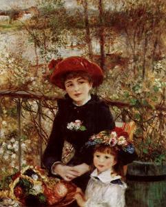 On the Terrace by Pierre-Auguste Renoir