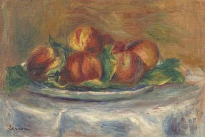 Peaches on a Plate, 1902-5 by Pierre-Auguste Renoir