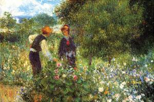 Picking Flowers by Pierre-Auguste Renoir