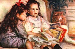 Portrait of Jean and Genevieve Caillebotte by Pierre-Auguste Renoir