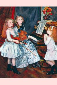 Portrait of the Daughters of Catulle Mendès-At the Piano by Pierre-Auguste Renoir