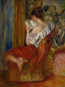 Reading Woman, circa 1900 by Pierre-Auguste Renoir