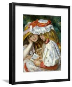 Renoir: Two Girls Reading by Pierre-Auguste Renoir