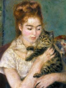 Renoir: Woman With A Cat by Pierre-Auguste Renoir