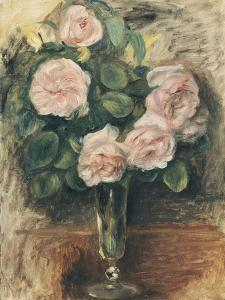 Roses dans un verre by Pierre-Auguste Renoir