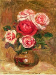 Roses in a Pot by Pierre-Auguste Renoir