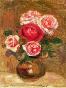 Roses in a Pot by Pierre-Auguste Renoir