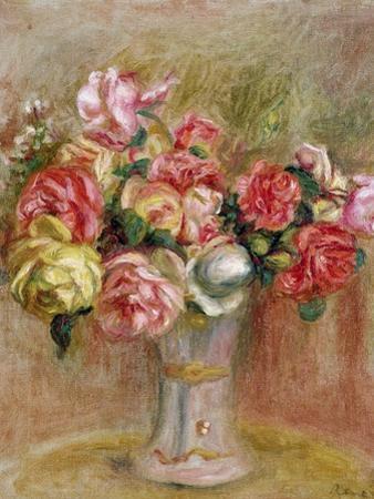 Roses in a Sevres Vase by Pierre-Auguste Renoir