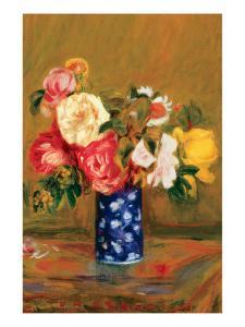 Roses in a Vase by Pierre-Auguste Renoir