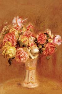 Roses in Sevres Vase by Pierre-Auguste Renoir