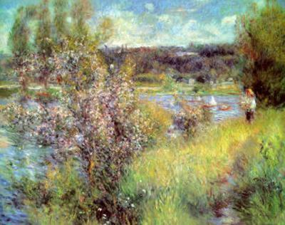 Seine At Chatou by Pierre-Auguste Renoir
